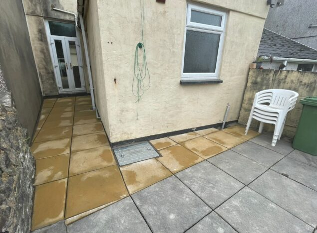laying new patio in penarth