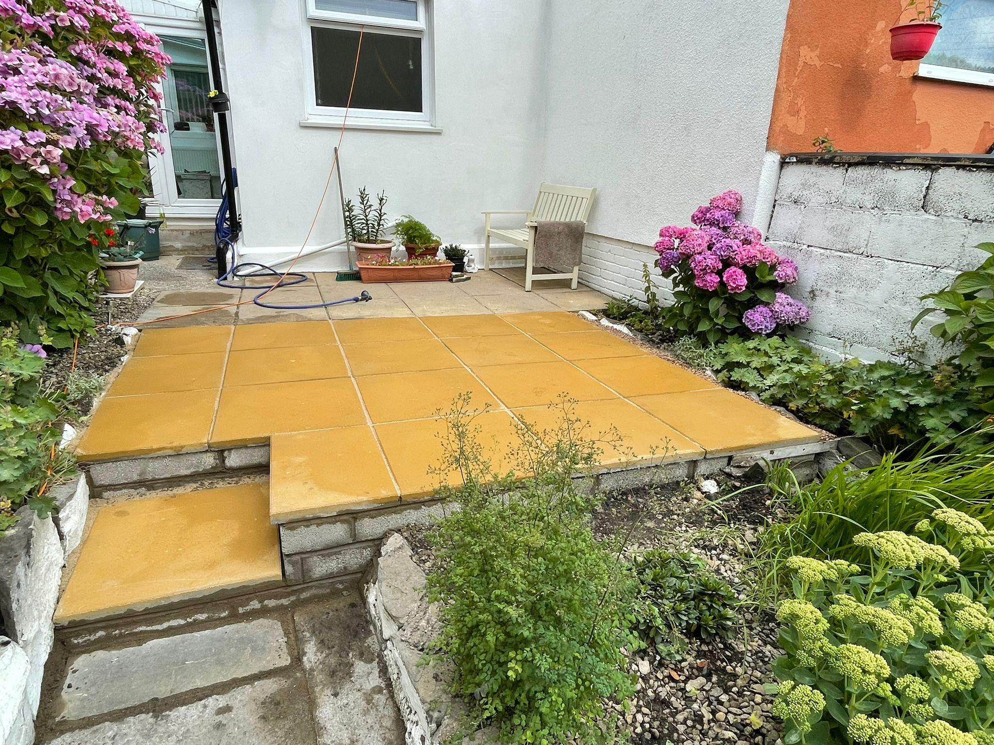 patio slabbing caerphilly